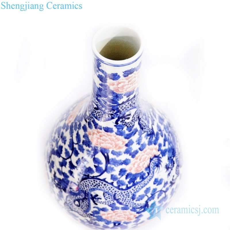 traditional hand painted ceramic vase