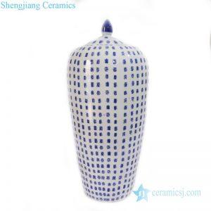 RYLU169 Jingdezhen antique wax gourd ceramic wtih longevity pattern jar