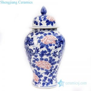RYLU170 Shengjiang factory high quality underglaze red ceramic jar