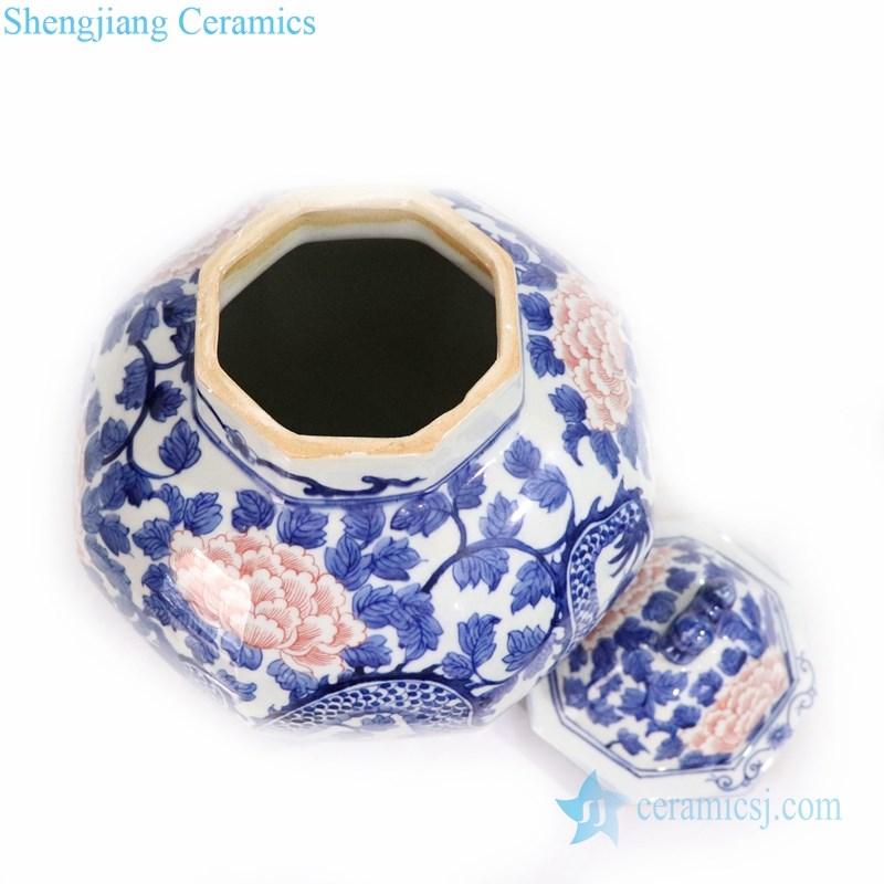 traditional underglaze red ceramic jar