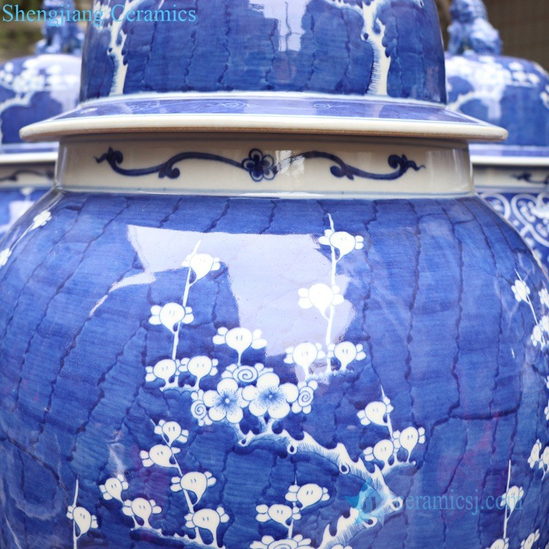ancient puer hand ceramic jar with lid