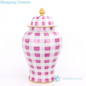 RYOK79-B Simple style candle knob lid gold drawing ceramic jar