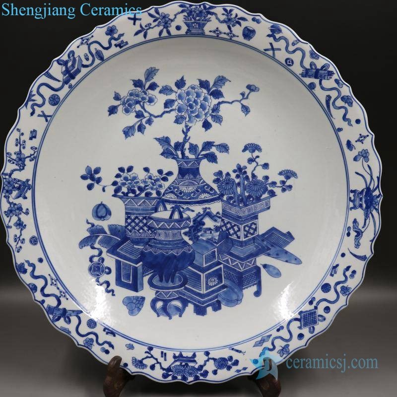 ancient hand painted display plate