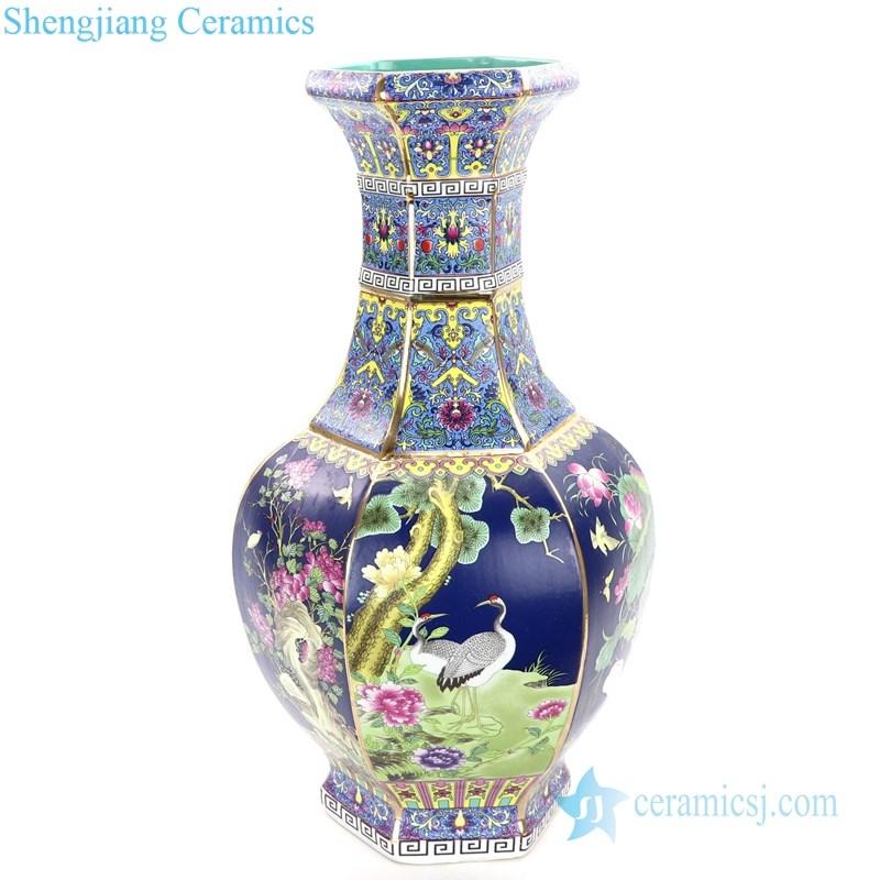 high quality enameled ceramic vase