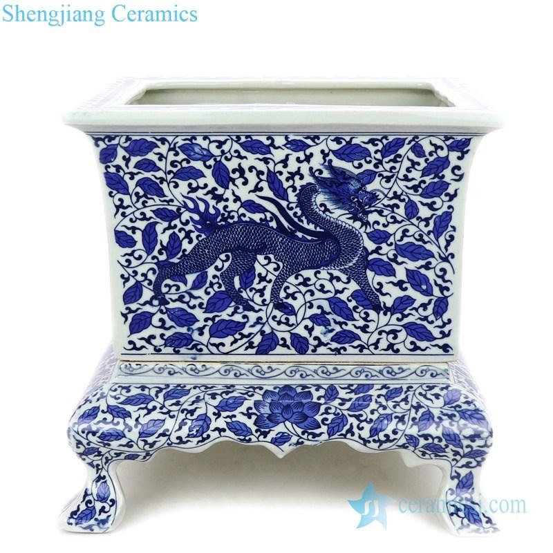 ceramic flower pot with pedestal