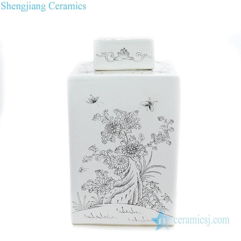 high quality white ceramic tea jar