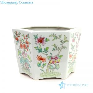 RYSZ12 Hand painted ceramic with beautiful floral design flower pot