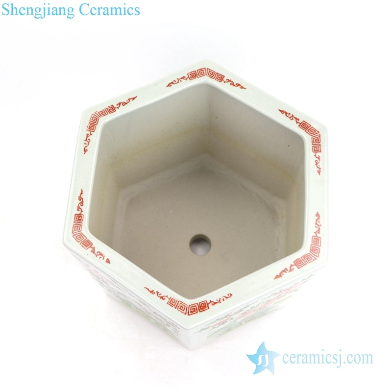 multicolored floral ceramic flower pot