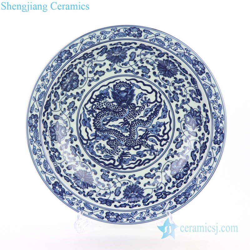 classical blue and white plate