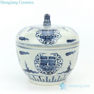 RZFB09 Shengjiang factory hand painted ceramic jar with lid