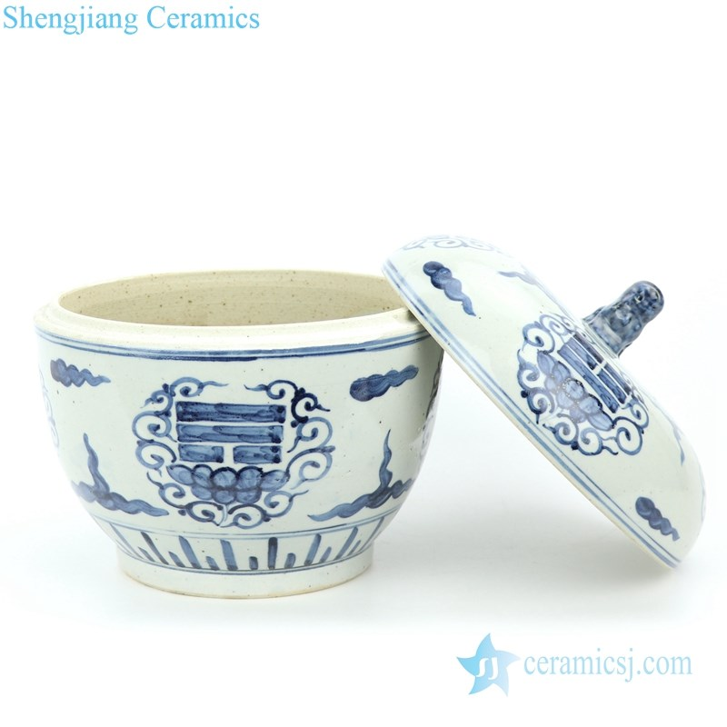 high end ceramic pot with lid