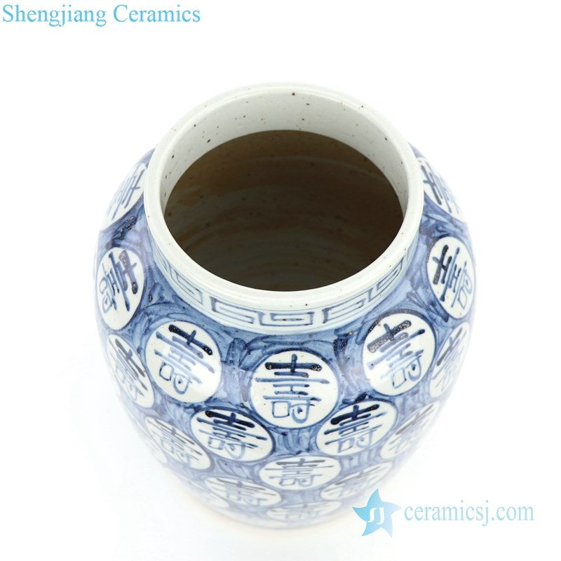 traditional hand drawing ceramic jar