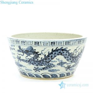 RZFB14 Chinese purely manual ceramic with dragon pattern bowl