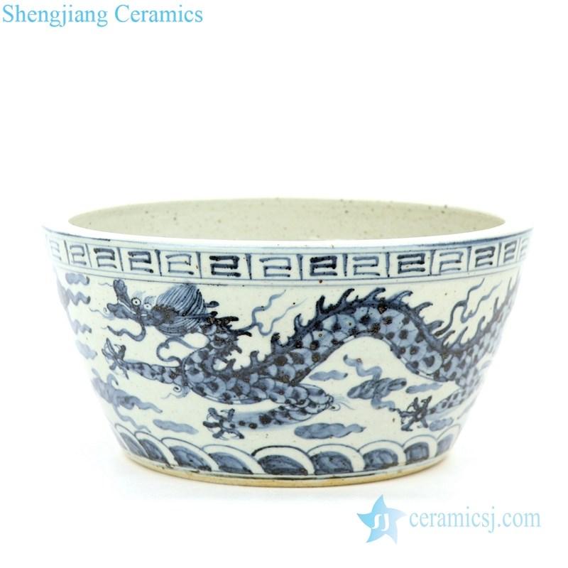 antique ceramic with dragon design jar