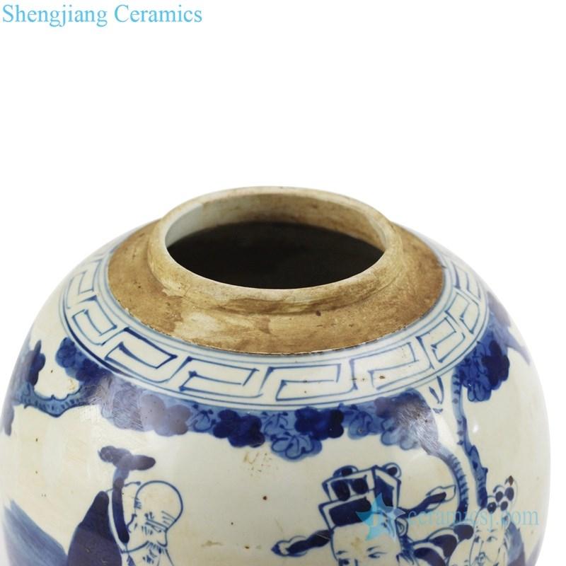 jingdezhen ancient ceramic tea jar