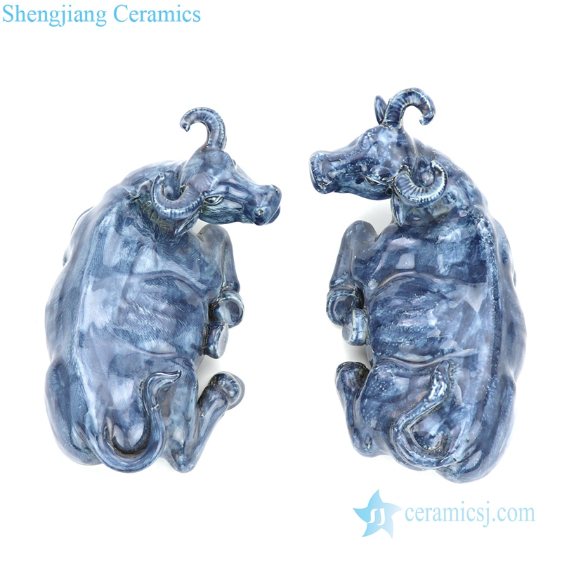 hand craft ceramic with special shape figurine
