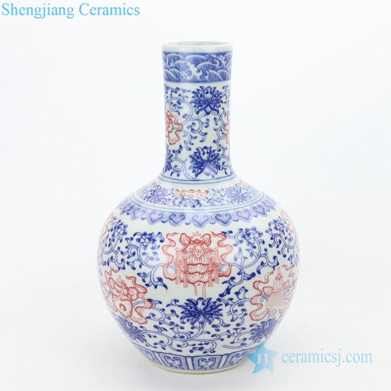 hand painted ceramic decorative vase
