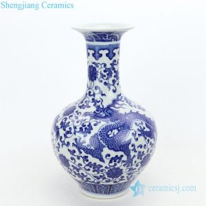 RZGM06 Chinese style ceramic with design of dragon decorative vase