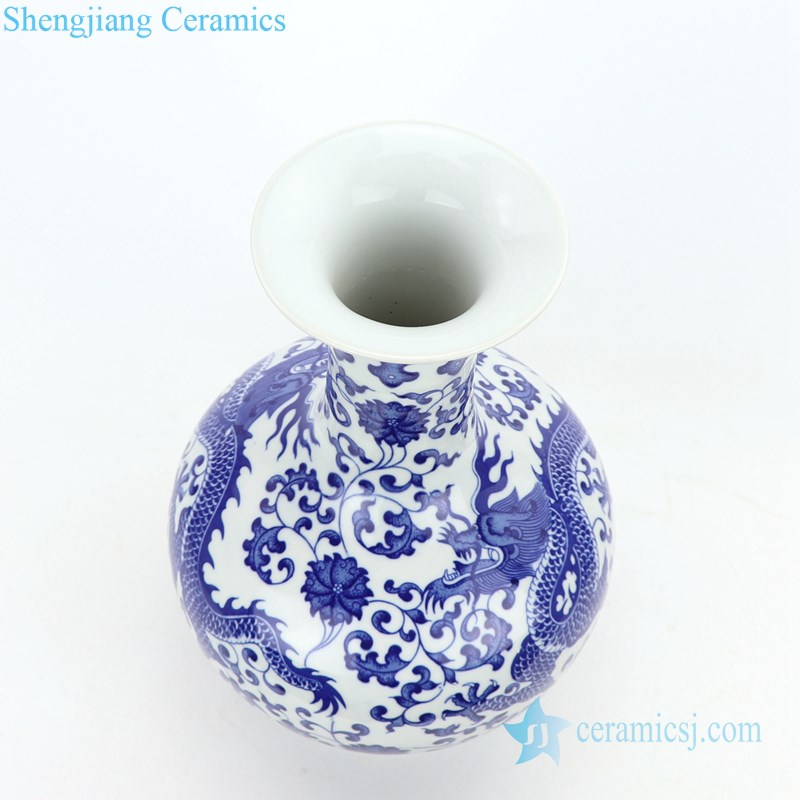 precious blue and white ceramic vase