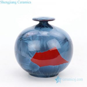 RZGW01-D Deep blue background fat body tabletop ceramic vase