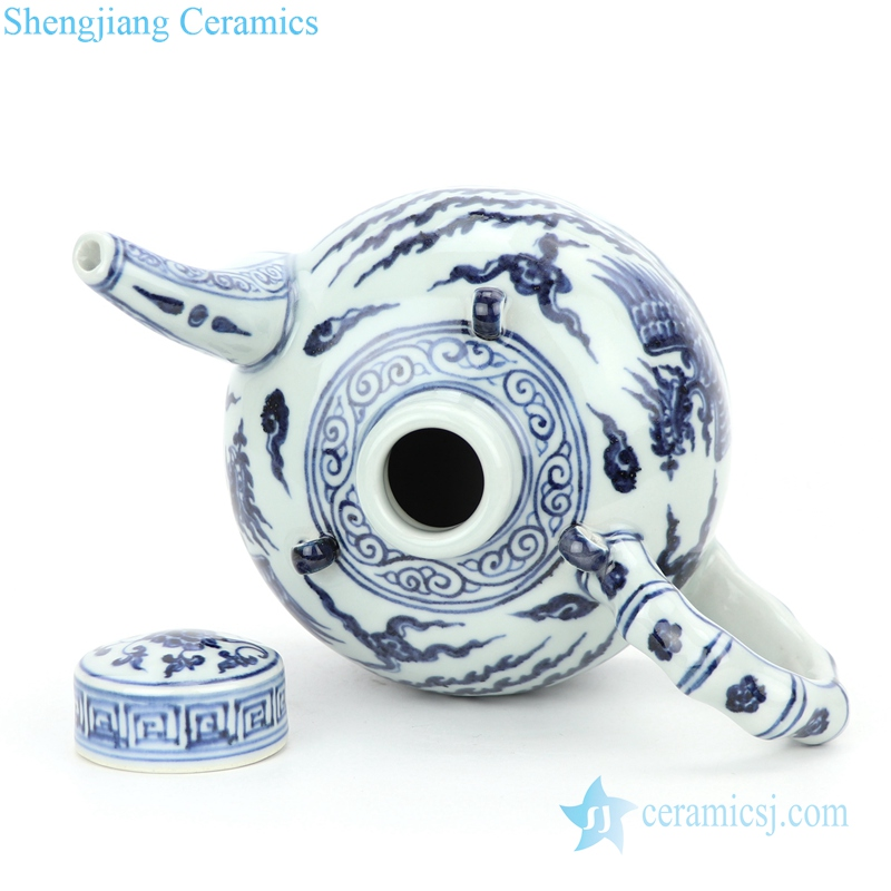 high quality ceramic with special pattern tea pot