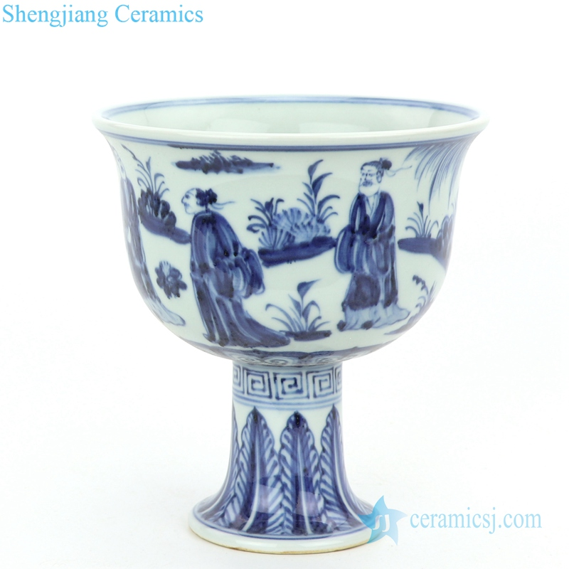 pue hand drawing ceramic bowl