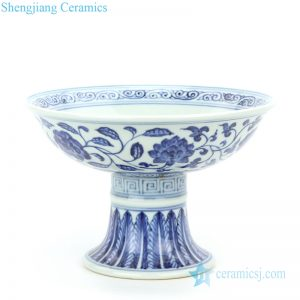 RZHL30 Chinese ancient ceramic with interlocking branches of lotus design bowl