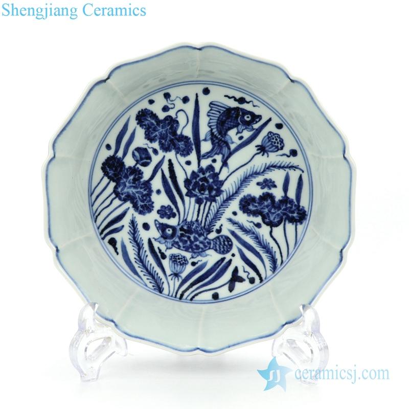 inherited hand painted ceramic plate