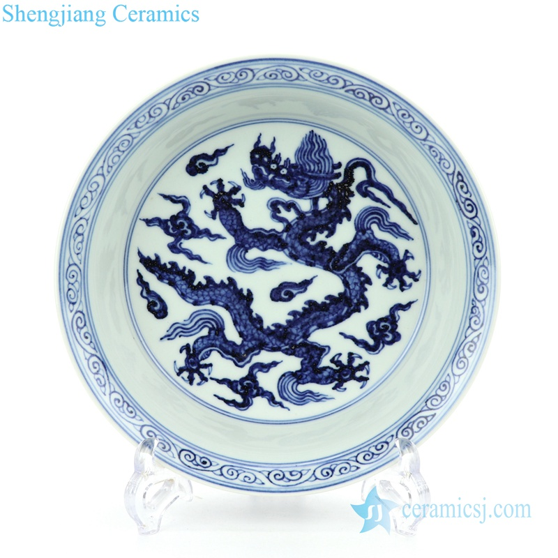 pheonix and dragon design ceramic plate