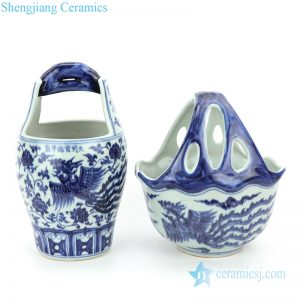 RZHL34-35 Asian style ceramic with phoenix design banquet vase