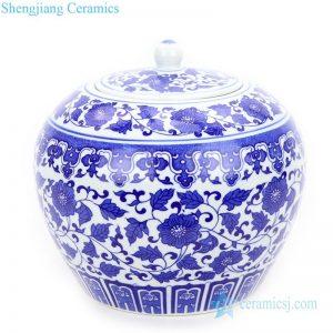 RZIX04 Fat valuable ceramic floral design covered tea jar