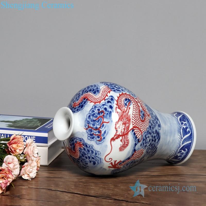 fat body and narrow neck ceramic vase