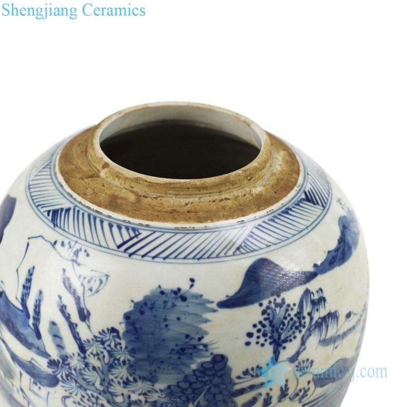 delicate ceramic tea jar with round lid