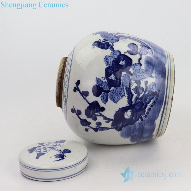 high quality blue and white ceramic tea jar