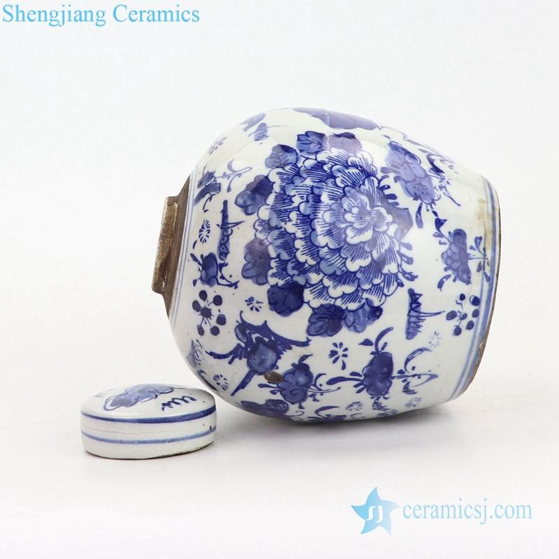 high temperature fired ceramic tea jar