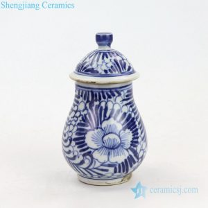 RZKT14 Elegant china style ceramic with hand painted pattern jar