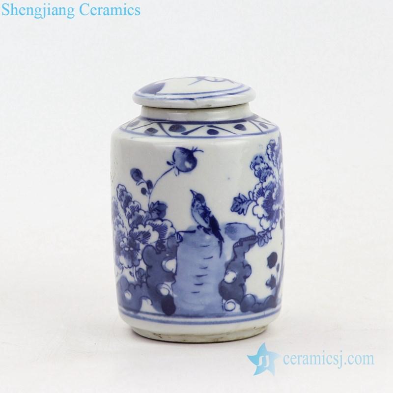 bird design ceramic jar