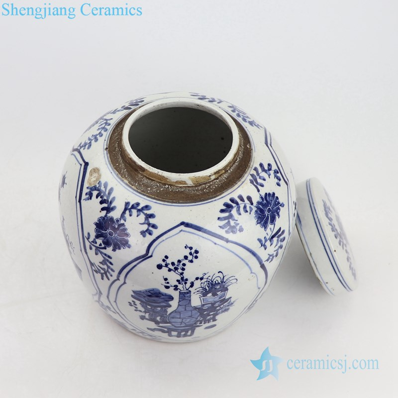 chinese ancient precious ceramic tea jar