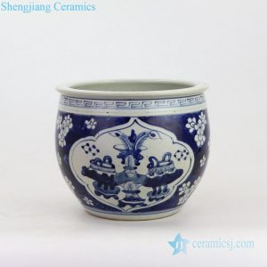 RZKT20 Antique high quality wintersweet design ceramic collection pot