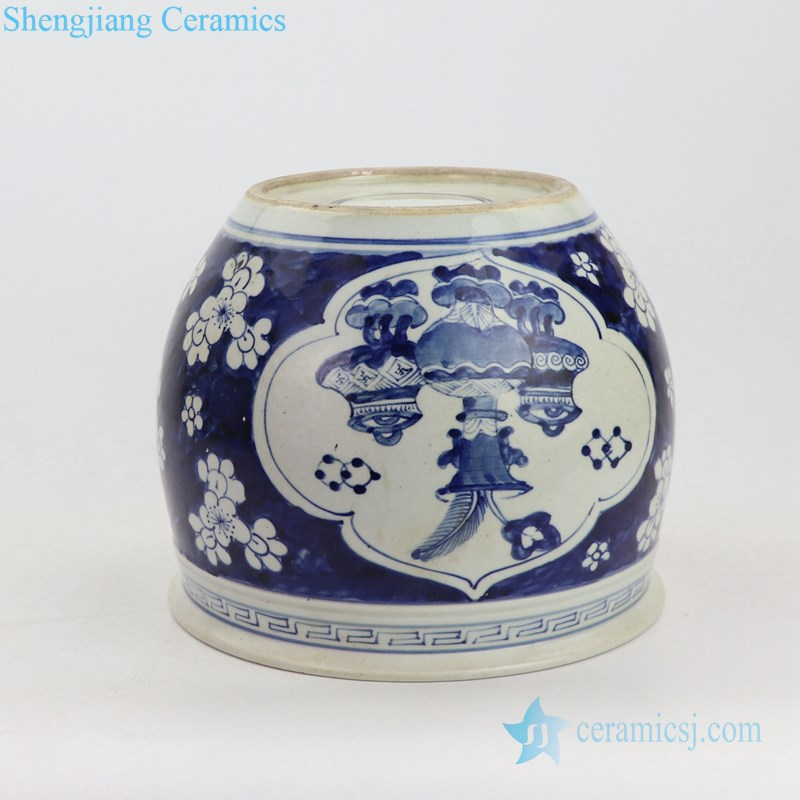 wintersweet design ceramic pot