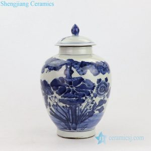 RZKT21-A China Qing dynasty precious landscape design porcelain jar
