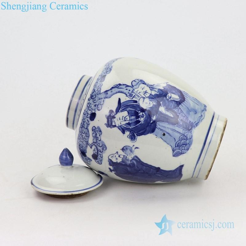 candle knob lid ceramic jar