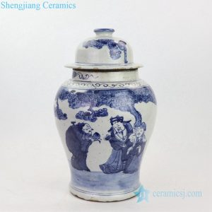 RZKT23 Shengjiang elegant portraiture design ceramic ginger jar