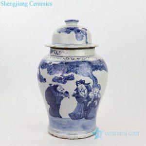 RZKT23 Shengjiang elegant portraiture design ceramic ginger jar