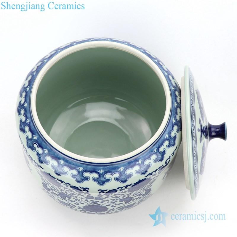 high skilled ceramic tea jar