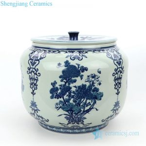 RZLG50 Shengjiang popular tree design porcelain covered tea jar