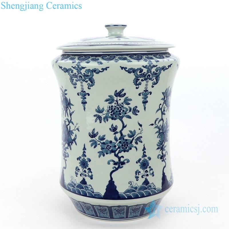 slippy ceramic tea jar