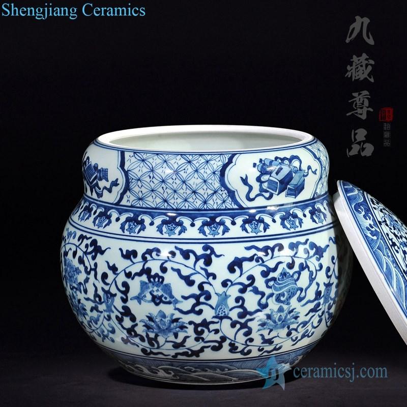 floral design tea jar