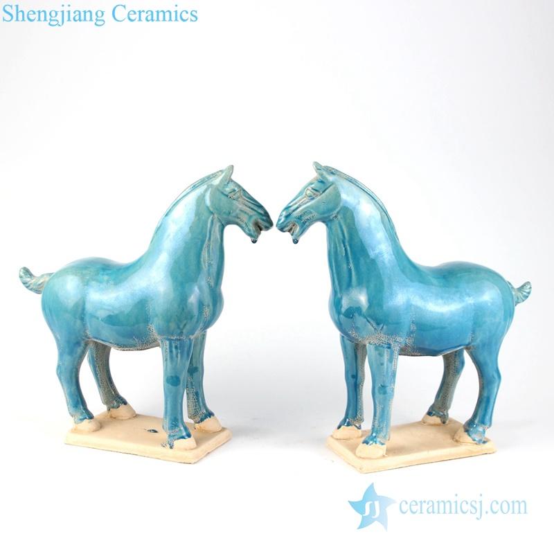 green ceramic horse