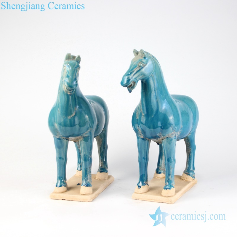 green horse figurine